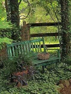 How can therapy help?. Garden bench